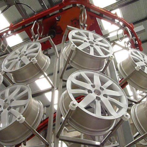 Light alloy wheels painting
