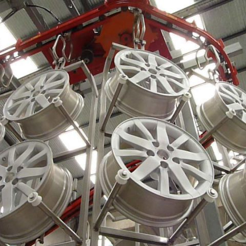 Light alloy wheels painting